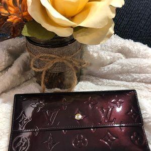 Lv vernis 3 fold wallet